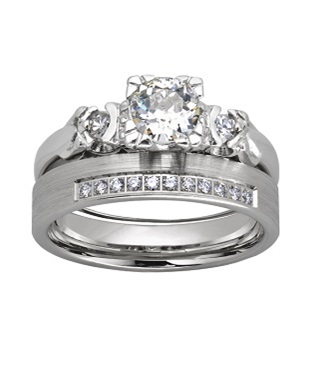 Komplet ślubnej biżuterii damskiej